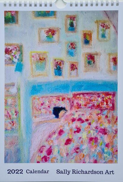Includes P&P to USA, Australia and New Zealand A4 Sally Richardson Art Calendar 2022