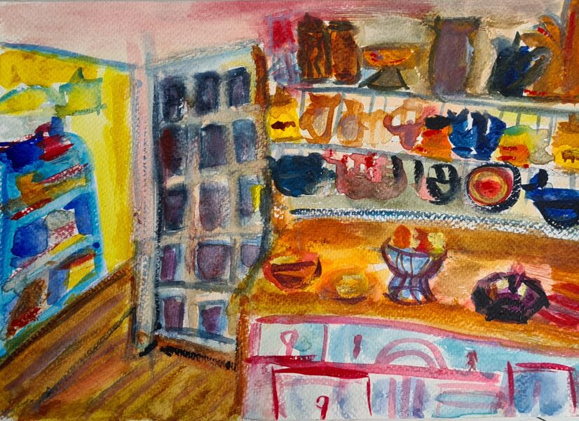 Colony Kitchen 2021 - Watercolours on A4 300gm Watercolour Paper