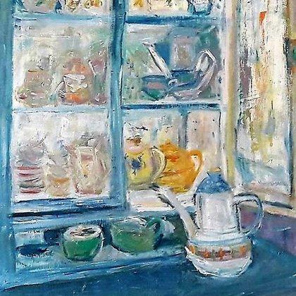Vintage in Blue Cupboard -